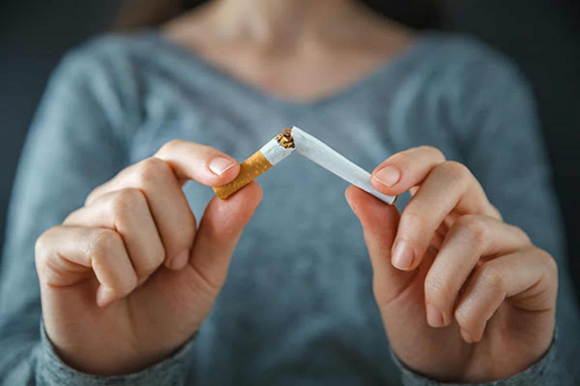 Breaking smoking habit