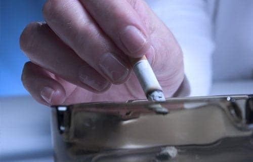 Cigarette Put Out in Ashtray